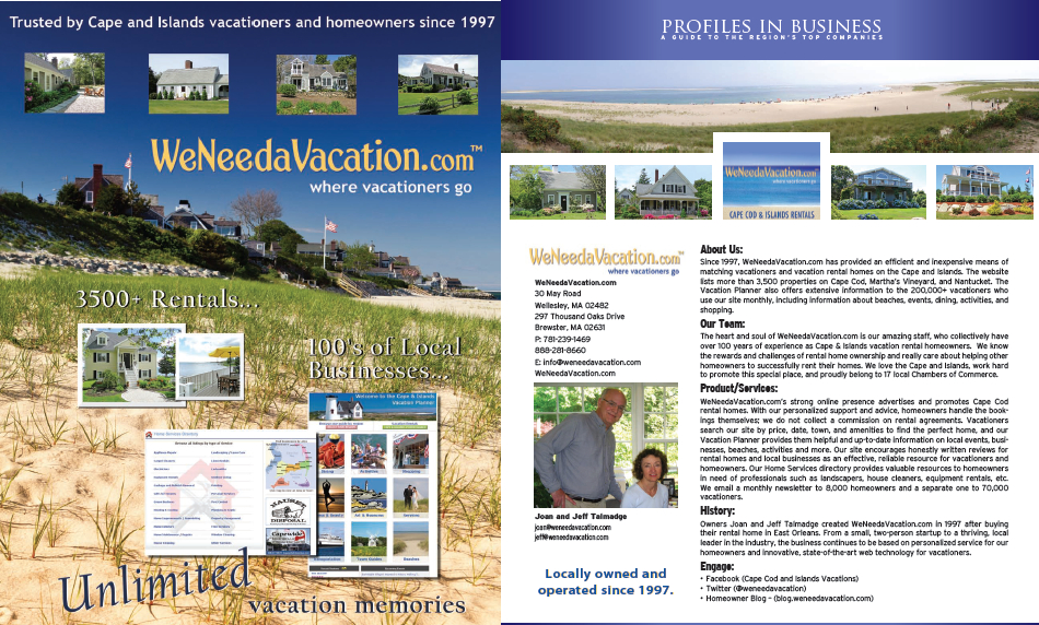 WeNeedaVacation.com in Cape & Plymouth Business magazine