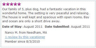 Guest Review Sample