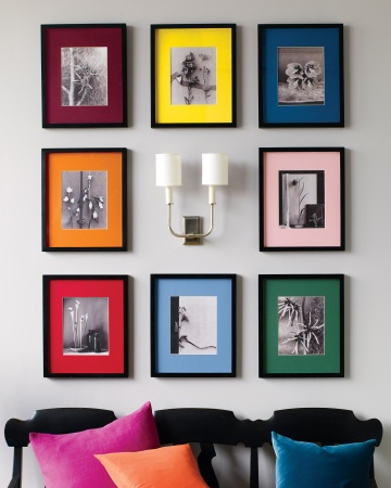 Some scenic photographs and craft store frames create instant wall art.