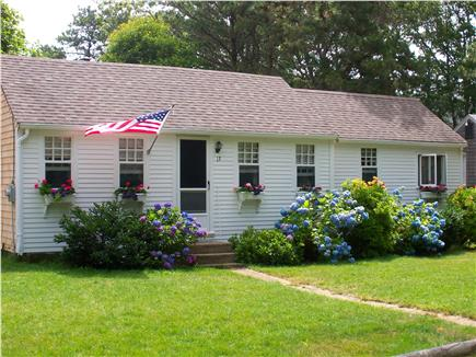 A classic American flag on this Harwich vacation rental
