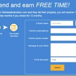 Refer a friend page