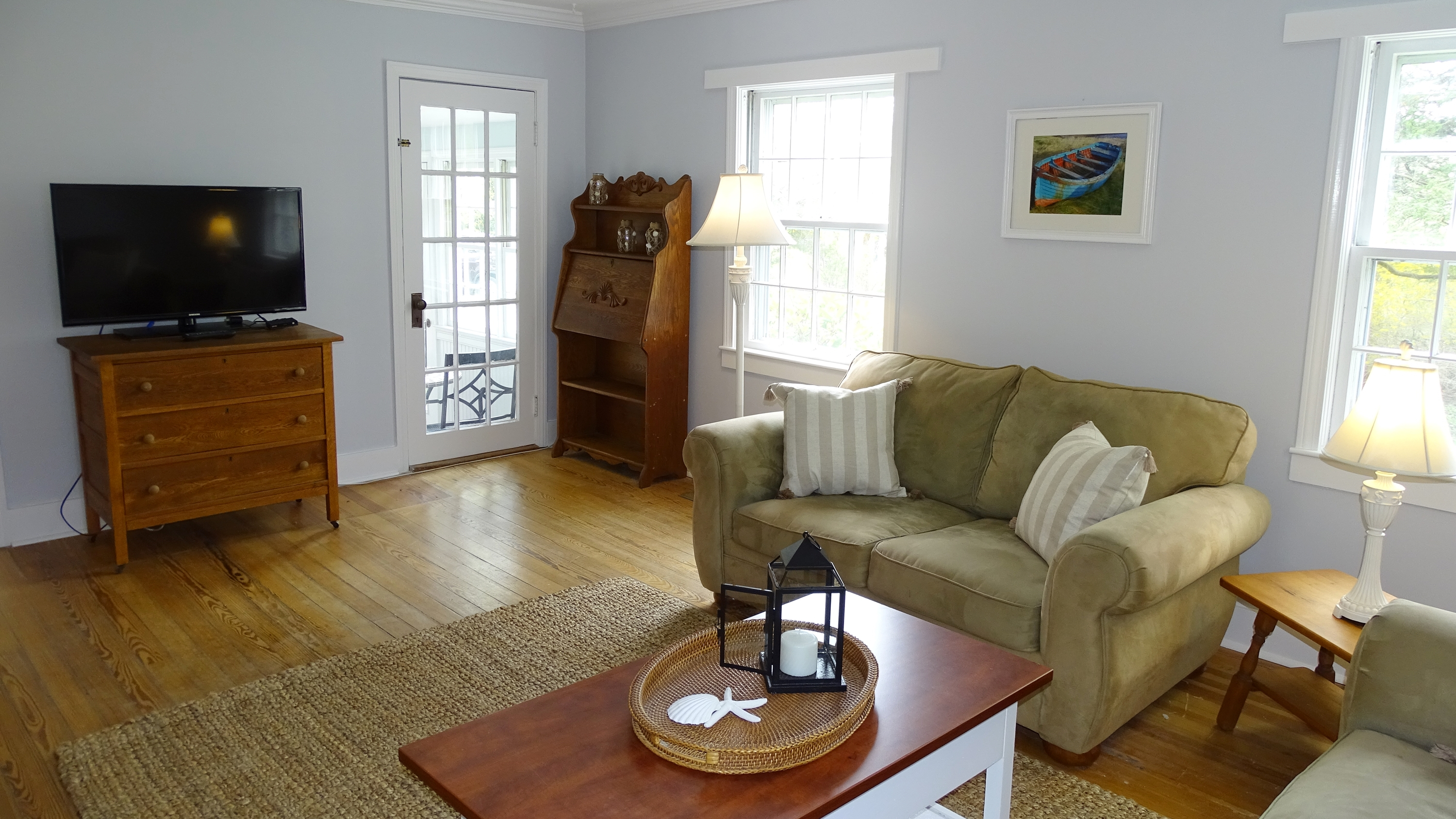 living room photo after home makeover in Harwich, MA (Cape Cod)